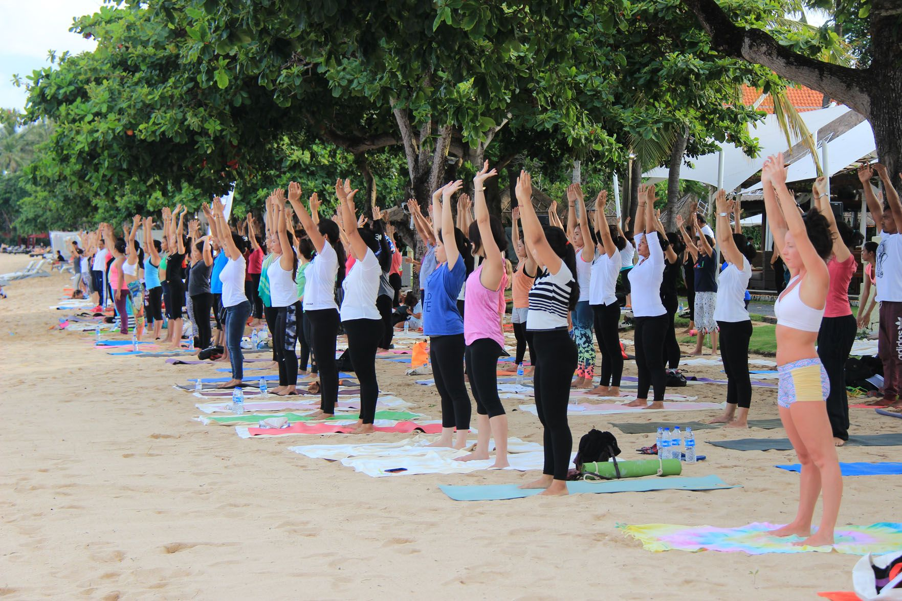 UNICEF Beach Family Yoga at Westin Bali